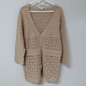 Liz Claiborne crochet cardigan cover sweater